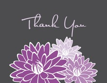 Purple Blooms Thank You Cards