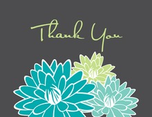 Blue Blooms Thank You Cards