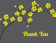 Classic Yellow Cherry Thank You Cards