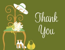 Special Day Green Thank You Cards