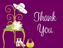 Special Day Purple Thank You Cards