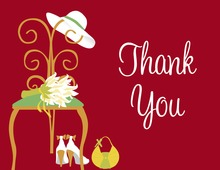 Special Day Red Thank You Cards