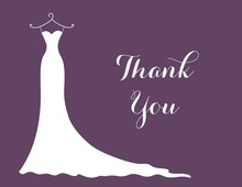 Purple Bridesmaids Thank You Cards