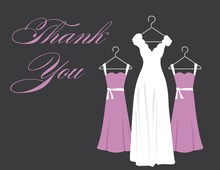 Lavender Background Dresses Thank You Cards