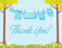 Clothes Baby Boy Thank You Cards