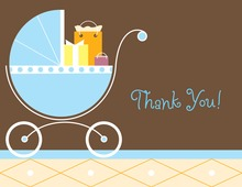 Blue Carriage Gifts Boy Thank You Cards