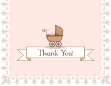 Flourish Baby Girl Thank You Cards