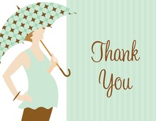 Umbrella Dots Thank You Cards