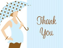 Umbrella Dots Boy Thank You Cards
