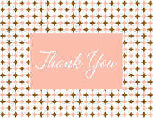 Classic Dots Girl Thank You Cards