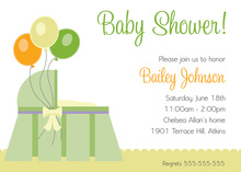 Three Baloons Invitations