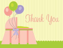 Three Baloons Pink Thank You Cards