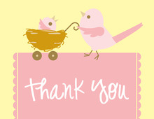 Mama Bird Girl Thank You Cards