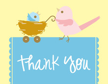 Mama Bird Boy Thank You Cards