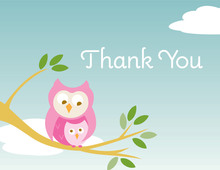 On Branch Girl Thank You Cards