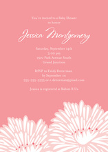 Stylish Flower Pink Shower Invitations