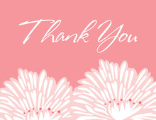 Stylish Flower Pink Thank You Cards