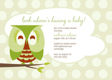 Cute Sleepy Owl Invitations