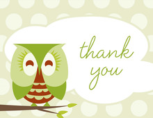 Sleepy Owl Thank You Cards