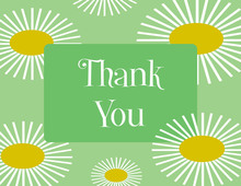 Sunflower Green Thank You Cards