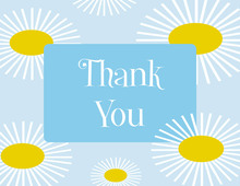 Sunflower Blue Thank You Cards