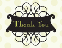 Antique Flourish Thank You Cards