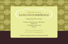 Modern Elegant Swirl Green Formal Party Invitations
