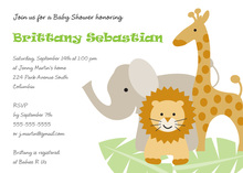 Three Popular Jungle Animals Theme Invitations