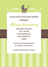 Super Buggy Green Invitations