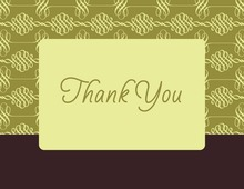 Elegant Swirl Green Thank You Cards