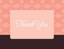 Elegant Swirl Pink Thank You Cards