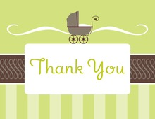 Classic Buggy Thank You Cards