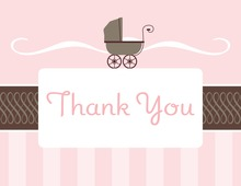 Classic Buggy Girl Thank You Cards