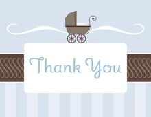 Classic Buggy Boy Thank You Cards