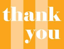Orange Simple Thank You Cards
