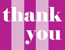 Pink Simple Thank You Cards