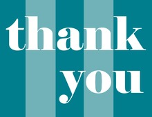Teal Simple Thank You Cards