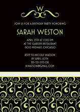 Victorian Monogram Style Flourish Invitations