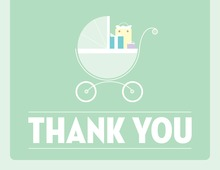 Cute Buggy Green Thank You Cards