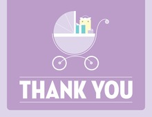 Cute Buggy Lavender Thank You Cards