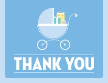 Cute Buggy Blue Thank You Cards