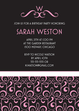 Victorian Style Girl Baby Shower Invitations