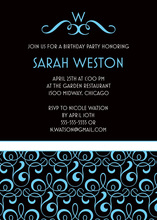 Victorian Style Boy Baby Shower Invitations