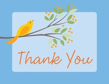 Blooming Blue Thank You Cards