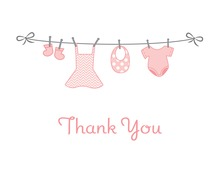 Hanging Girl Thank You Cards