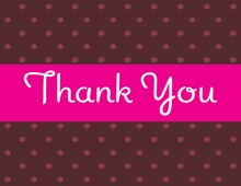 Polka Dots Girl Thank You Cards