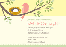Nesting Baby Girl Invitations