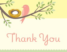 Nesting Girl Thank You Cards