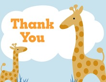 Mother Giraffe For Baby Boy Thank You Cards