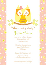 Cutie Owl Girl Invitation